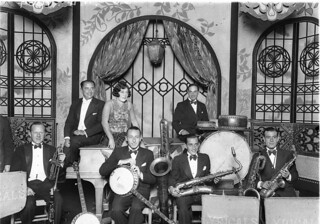 Beryl Evetts and the Syd Roy Lyricals Dance Band at Mrs. McLurcan's Wentworth Hotel, February 1929, by Sam Hood