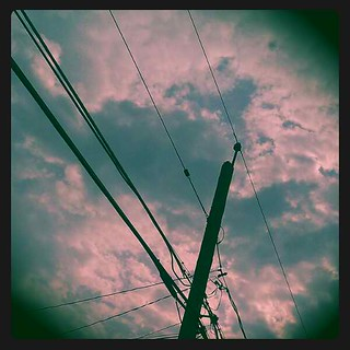 cloudy power lines