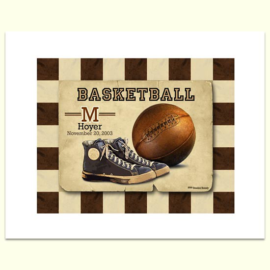 Vintage basketball wall art flickr photo sharing for Vintage basketball wall art
