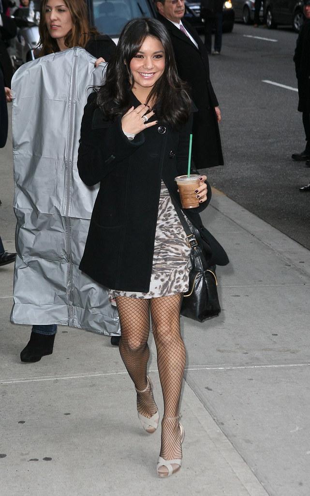 Possible Vanessa hudgens black pantyhose good