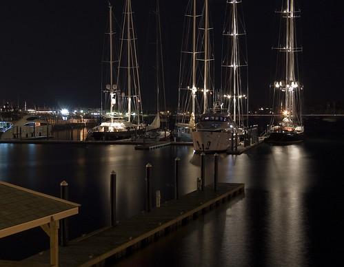 ri travel color slr water night sailboat digital boats harbor boat dock nikon newengland tourist rhodeisland newport nautical rigging d40