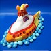 Yellow submarine cake by debbiedoescakes
