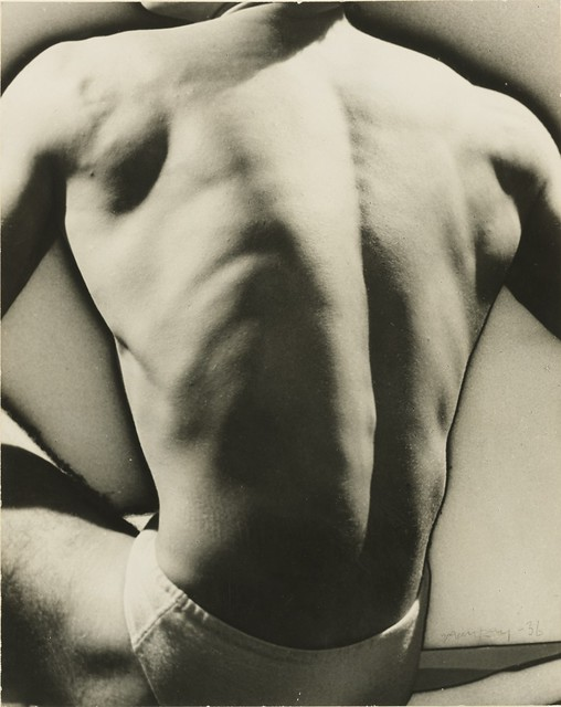 Solarized Male Torso, early 1930s, by Man Ray
