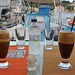 Ice coffee. Fiskardo. Kefalonia. Greece.