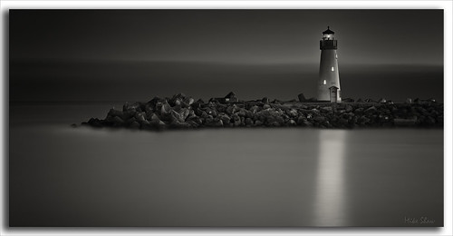 ocean california lighting longexposure sunset sea bw santacruz lighthouse reflection history water fog night canon lights seagull historic crop bluehour californiacoast ndfilter 2470mmf28l 10stopndfilter mshaw silverefexpro 5dmark2 canoneos5dmarkll bigstopper 2x1crop