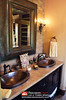 Master Bathroom Countertop & Sinks | Hybrid Log & Timber Home by PrecisionCraft Log & Timber Homes