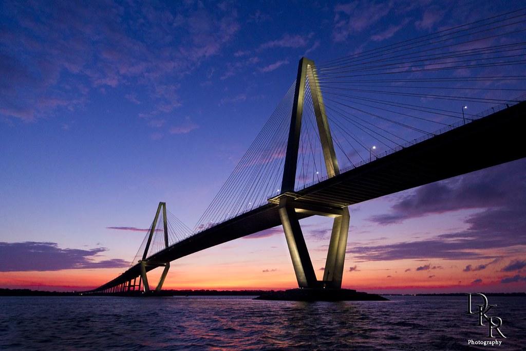 Puente Cooper River en Charleston, Carolina del Sur