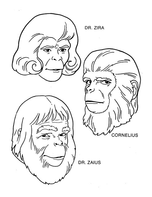 Planet of the Apes Coloring Book 0200003