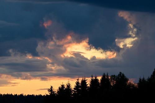 sunset cloud evening woods sweden skog sverige moln värmland solnedgång kväll köla
