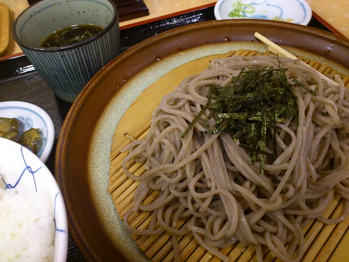 Cold soba really hits the spot on hot days