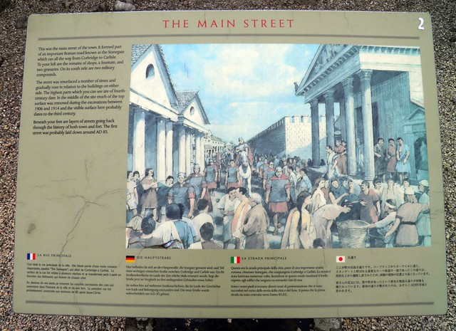 The Main Street (panel), Coria (Corbridge Roman Town)