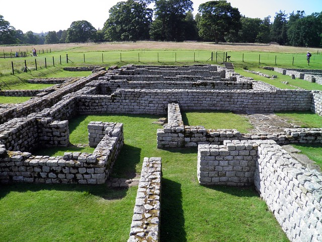 The house for the officers, Barracks, Chesters Roman Fort