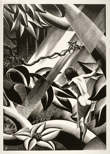 """Rima"" - Paul Landacre - Wood Engraving - 1933"