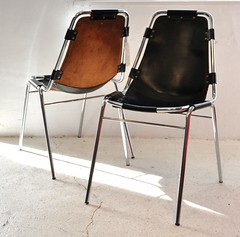 Charlotte Perriand chairs in black