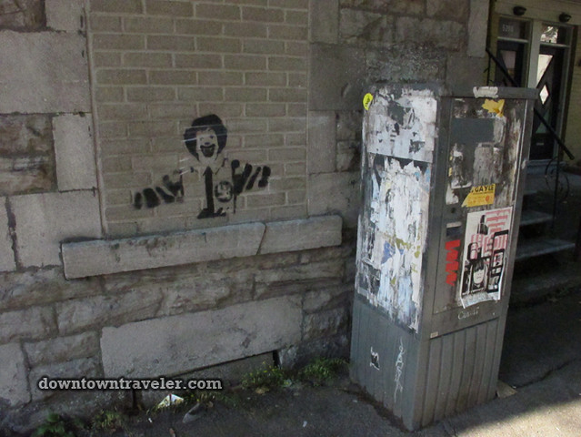 Ronald McDonald graffiti in Montreal 2