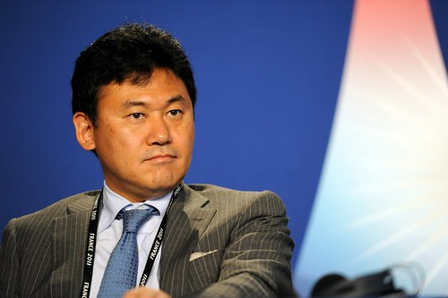 Hiroshi Mikitani at the 37th G8 Summit in Deauville
