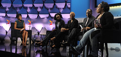"""Tamron Hall moderates the session """"Motor City On A Mission: Taking The Driver's Seat In Education."""""""