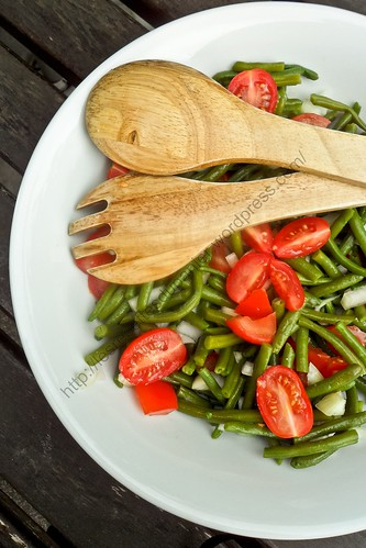 French bean salad recipe french bean salad aftouch cuisine for Aftouch cuisine com