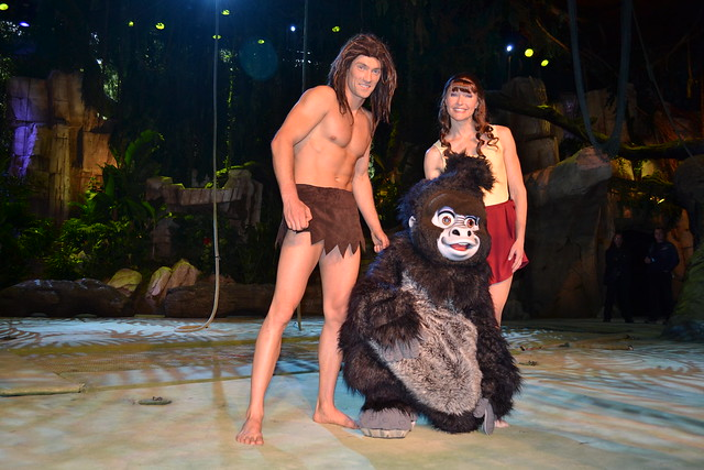Meeting Tarzan, Jane and Terk after The Tarzan Encounter at the Chaparral Theater