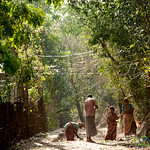 Brick Road Repair on Way to Nine Domed Mosque - Bagerhat, Bangladesh