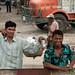 Men at the Railroad Crossing - Bangladesh