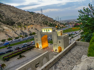 Quran Gate at dusk