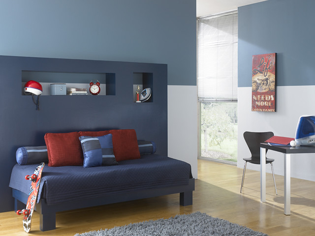 Modern youth room flickr photo sharing - Gama de colores para pintar paredes ...