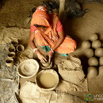 Adding Bottom to Ceramic Pots - Najirpur, Bangladesh