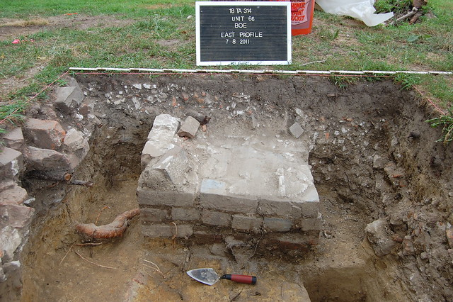 Unit 66 brick pier foundation