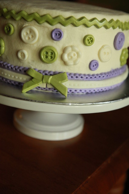 Baby Shower Cake With Buttons