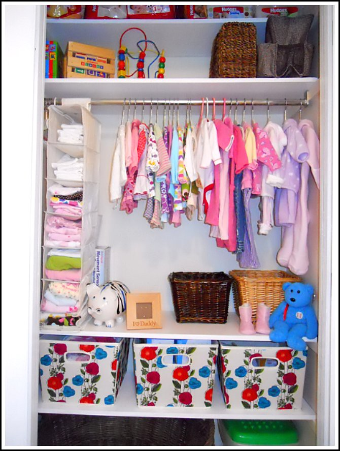 Our nursery closet reveal andrea dekker How to organize clothes without a closet