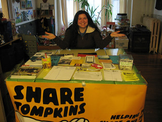 shira at the book swap!
