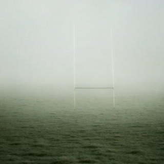 Goalpost in the fog!