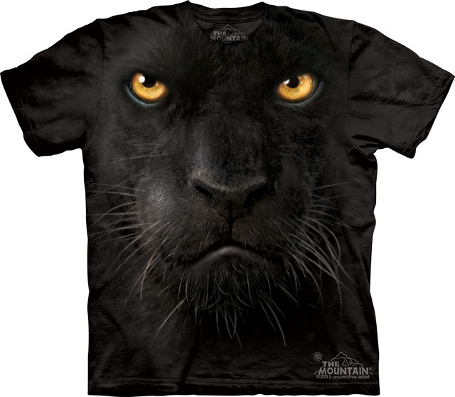 Mountain Cat Big Face Tshirt