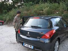 race car(0.0), peugeot 207(0.0), automobile(1.0), automotive exterior(1.0), peugeot(1.0), peugeot 308(1.0), family car(1.0), vehicle(1.0), subcompact car(1.0), city car(1.0), bumper(1.0), land vehicle(1.0), luxury vehicle(1.0),