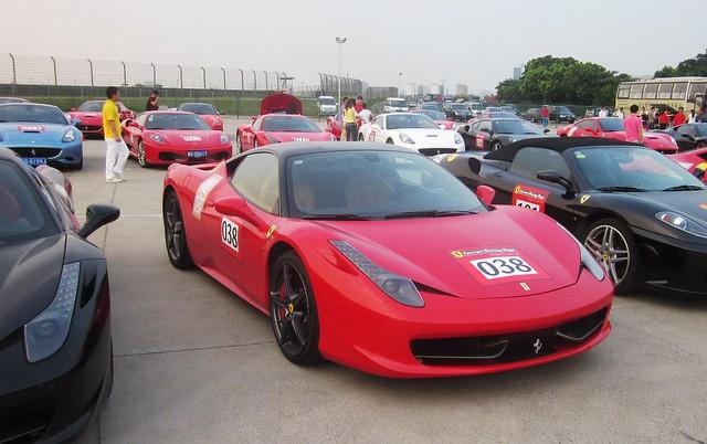Black Red Ferrari 458