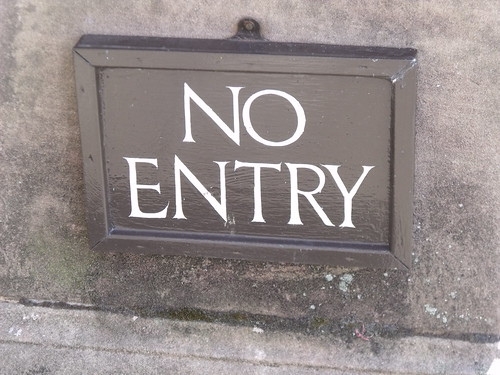 Houghton Hall - West Front - No Entry - sign