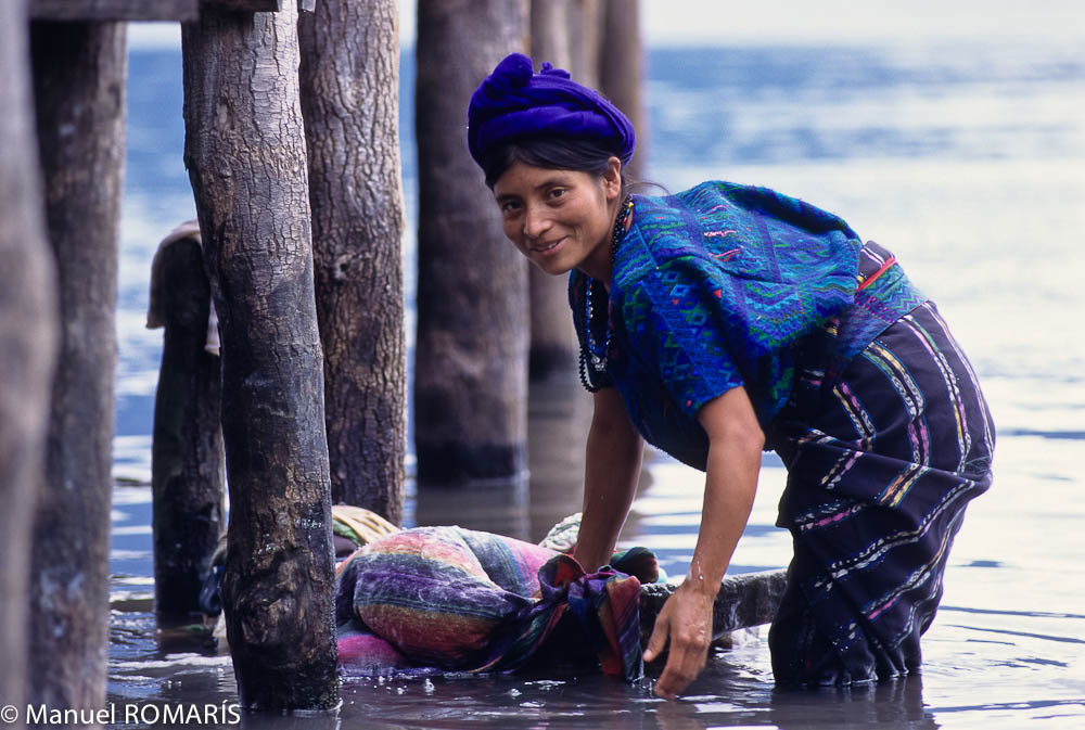 Guatemala, woman washing