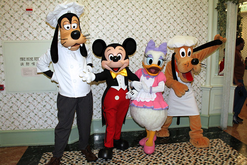 Mickey and the gang pose