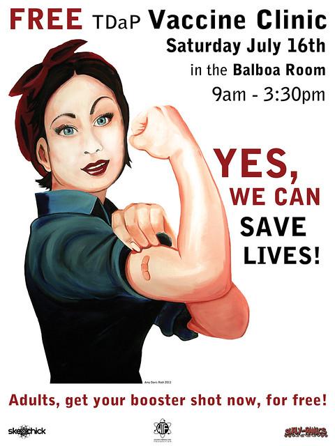 Vaccine Clinic Poster Art