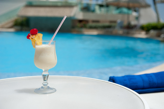The Pina Colada Coctail - Hotel Dann (Cartagena, Colombia)