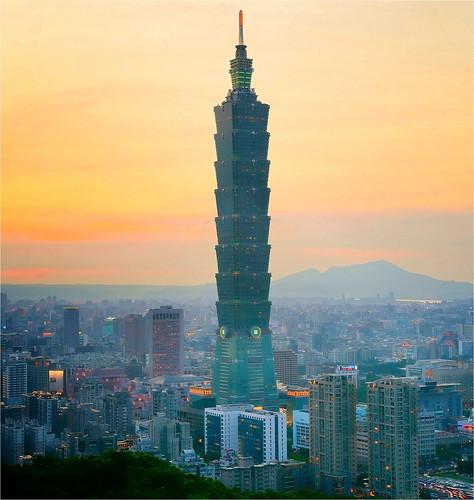 sunset taiwan taipei101 日落 taipeicity 象山 台北101 elephantmountain sonya850 sony2470za