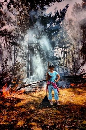 Hanna burning off