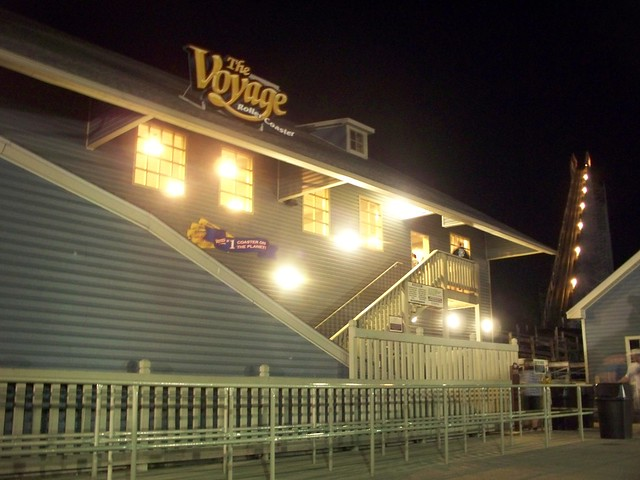 Holiday World - The Voyage Station at Night