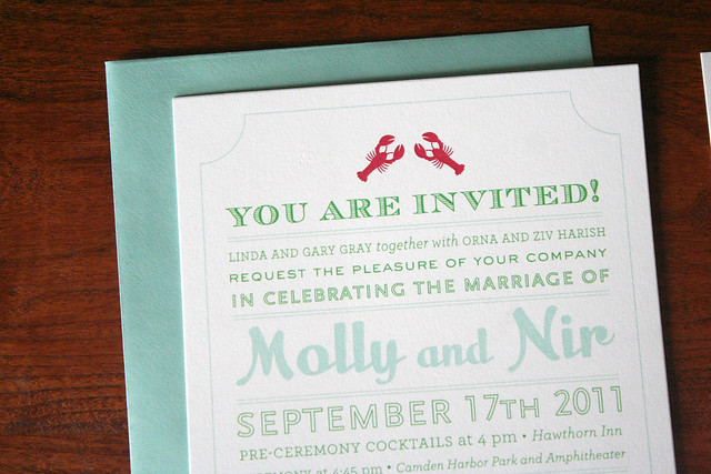 Maine Ocean Wedding Invitation
