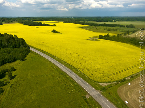 summer sweden aerial fields nyköping