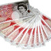 Fifty Pound Notes in a fan