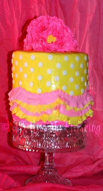 Birthday Cake With Photo Upload Free : Pink and Yellow Birthday Cake Flickr - Photo Sharing!