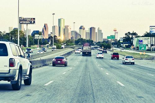road skyline photography drive nikon highway traffic houston vehicles interstate d90 i45