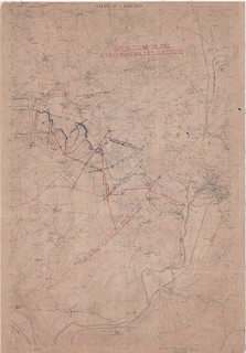 Chateau Thierry Operations Map, 1918